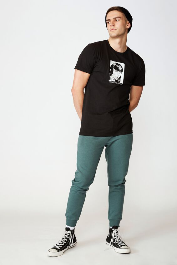 Basic Track Pant, FOREST GREEN