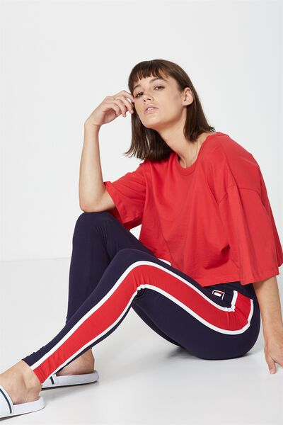 Fila Lcn Panel Legging, FILA_BLUE/RED PANEL