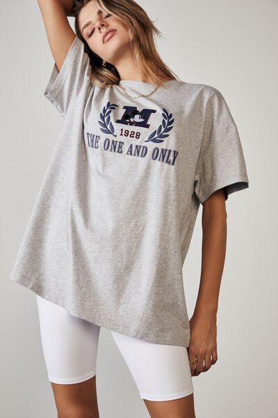 Lcn Disney Super Relaxed Graphic Tee, LCN DIS GREY MARLE/THE ONE AND ONLY