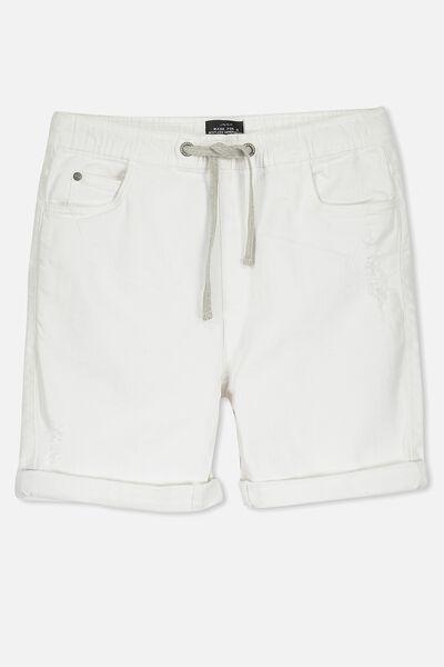The Nu Denim Short, WHITE