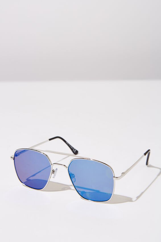 Vintage Topbar Sunnies, SILV_BLUE