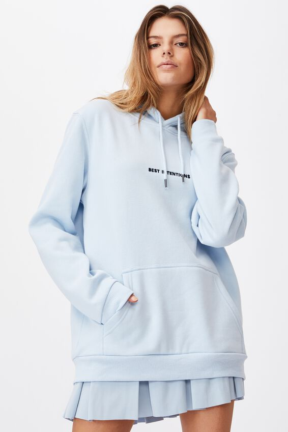 Graphic Hoodie, SKYWAY BLUE/BEST INTENTIONS