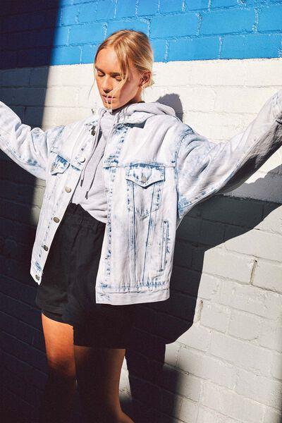 Oversized Denim Jacket, ACID WASH