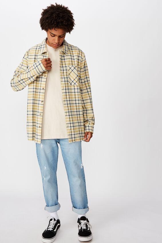 Flanno Shirt, MUSTARD MIDNIGHT