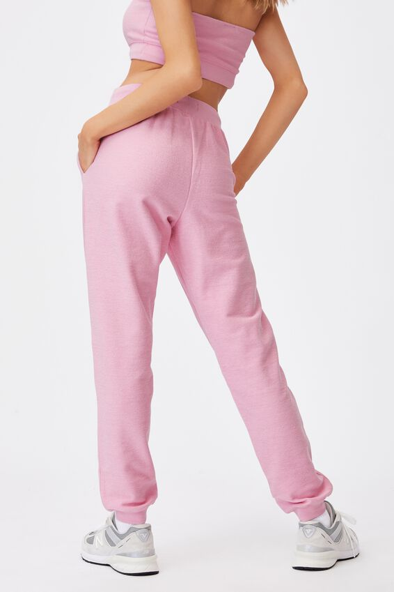 Reverse French Terry Slim Fit Trackpant, BABE PINK