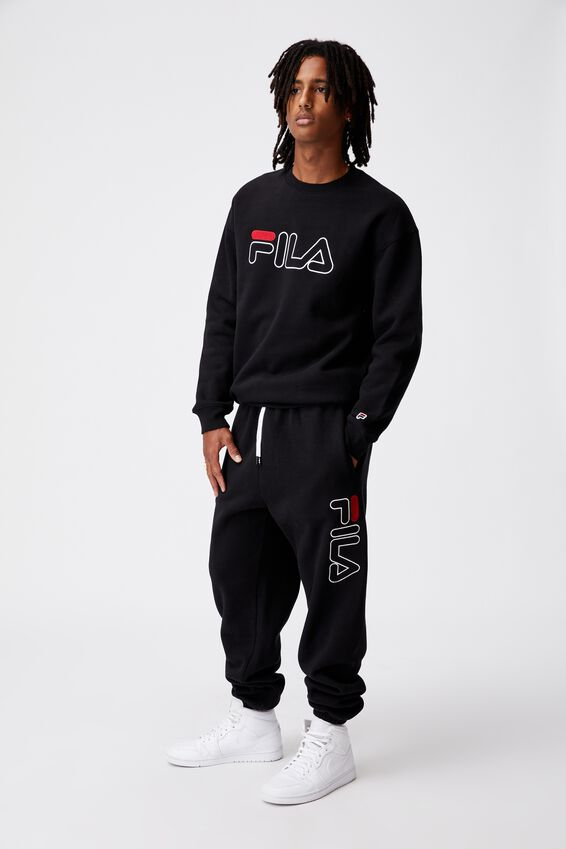 Fila Lcn Relaxed Fashion Track Pant, BLACK/FILA