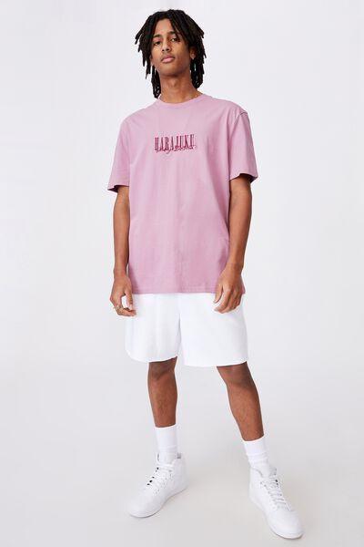 Regular Graphic T Shirt, FUSCHIA/DISTRICT