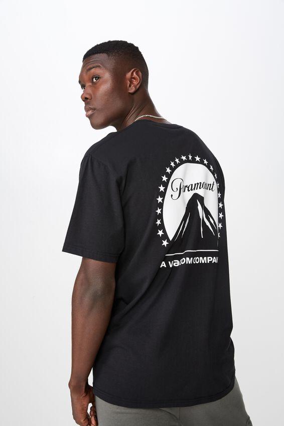 License T Shirt, BLACK/PARAMOUNT
