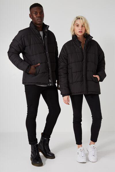 Arbour Puffer Jacket, BLACK
