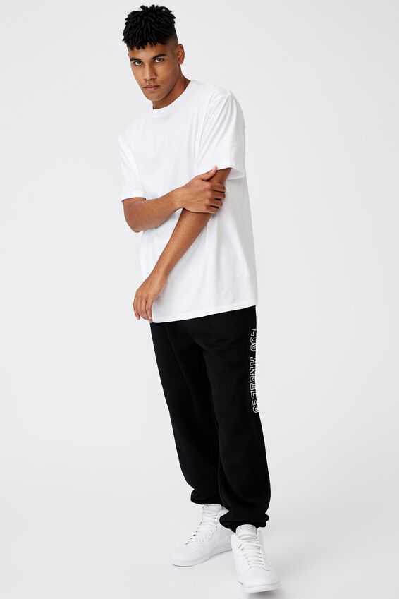 Relaxed Graphic Trackpant, BLACK/LOS ANGELES