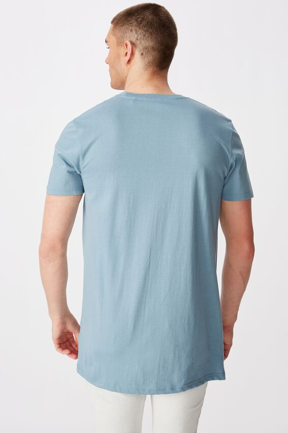 Longline T Shirt, SEA BLUE