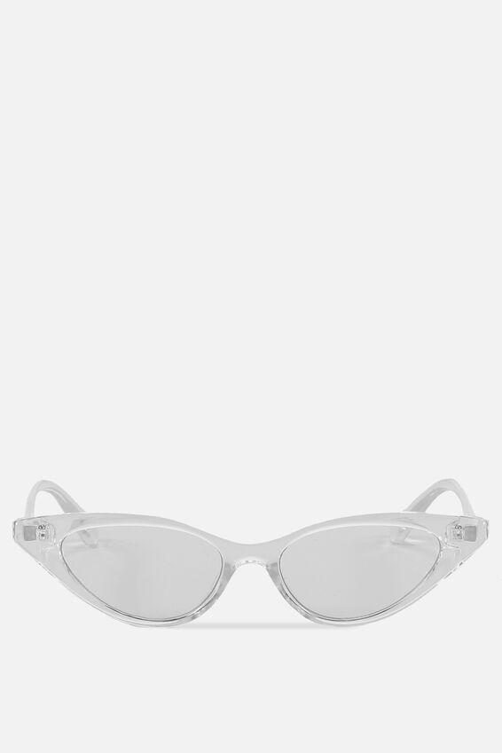 Splendour Cateye Sunglasses, S CRY_CLEAR