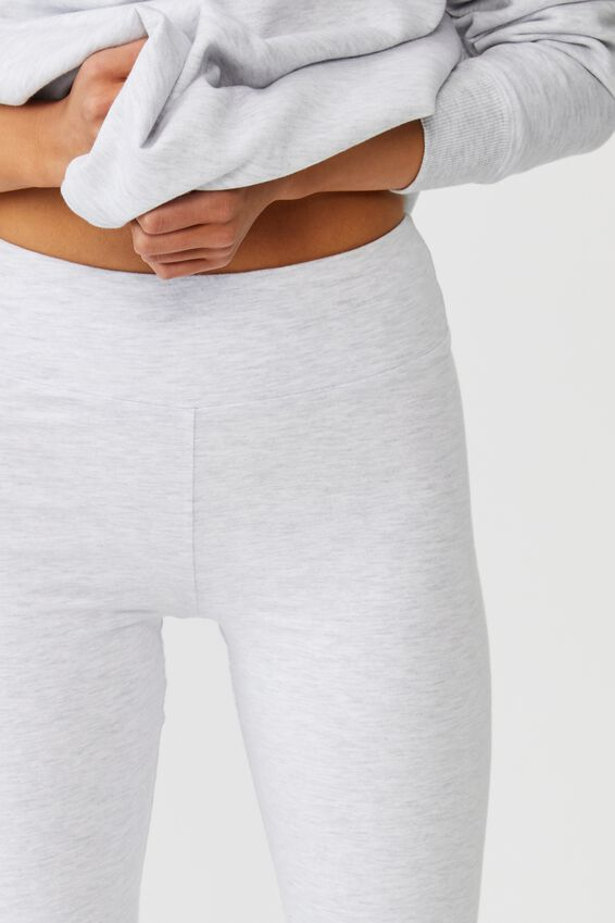 High Waisted Legging, SILVER MARLE