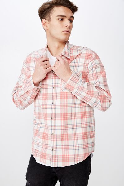 Long Sleeve Check Shirt, BIRCH CHECK