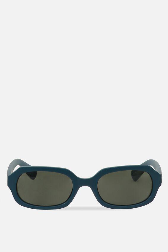 Square Supreme Sunglasses, M BLUE SAPH_GRN