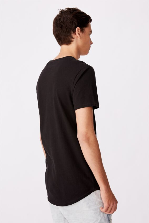 Curved Graphic T Shirt, BLACK/CITIES
