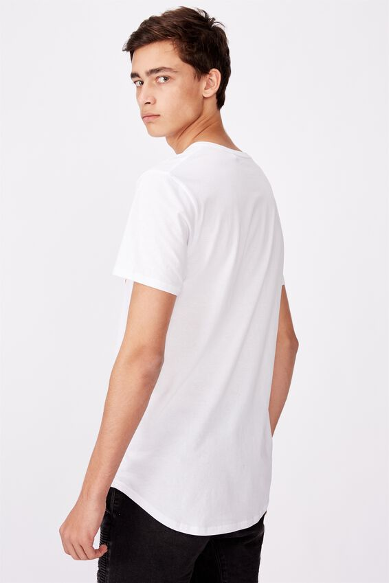 Curved Graphic T Shirt, WHITE/ROGUE