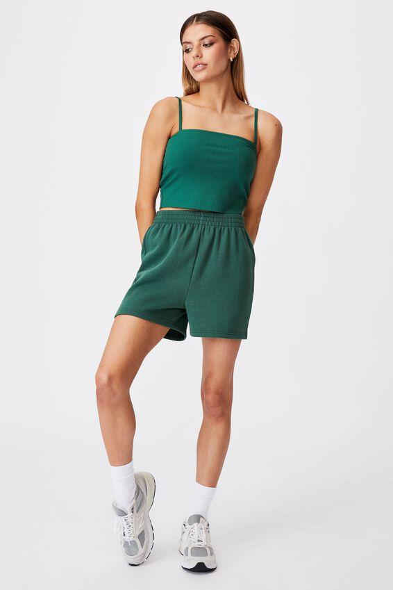 Hype Fleece Short, TREKKING GREEN