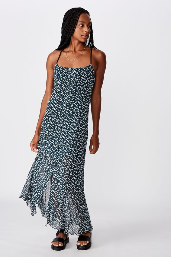 Mesh Maxi Dress, JAYDA DITSY_GREEN