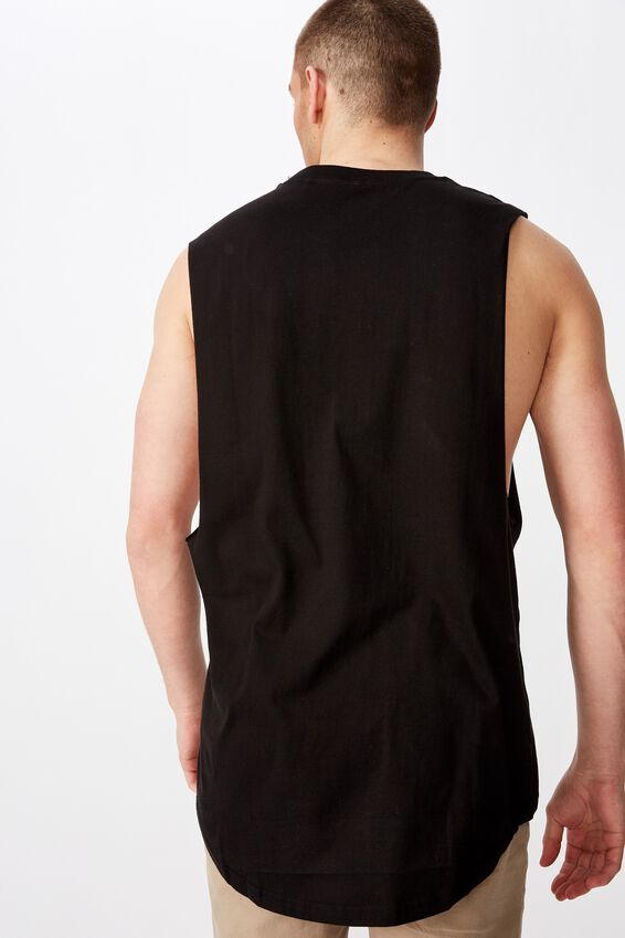 Graphic Muscle Tank, BLACK/SALVATION