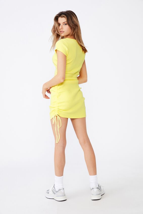 Ruched Side Rib Dress, LIMELIGHT