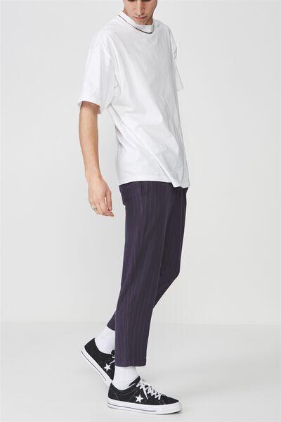 Pinstripe Cropped Pants, NAVY/WHITE