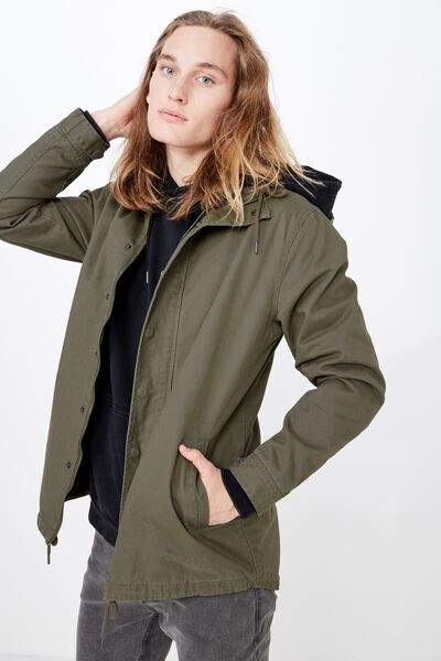 Hooded Anorak, KHAKI