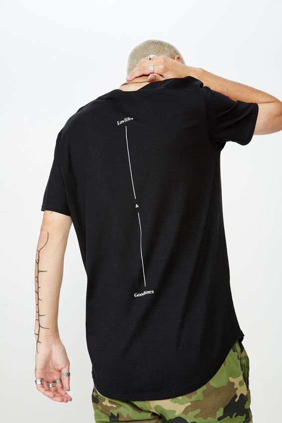Curved Graphic T Shirt, BLACK/GOOD TIMES
