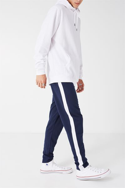 Grad Stripe Trackie, NAVY/WHITE