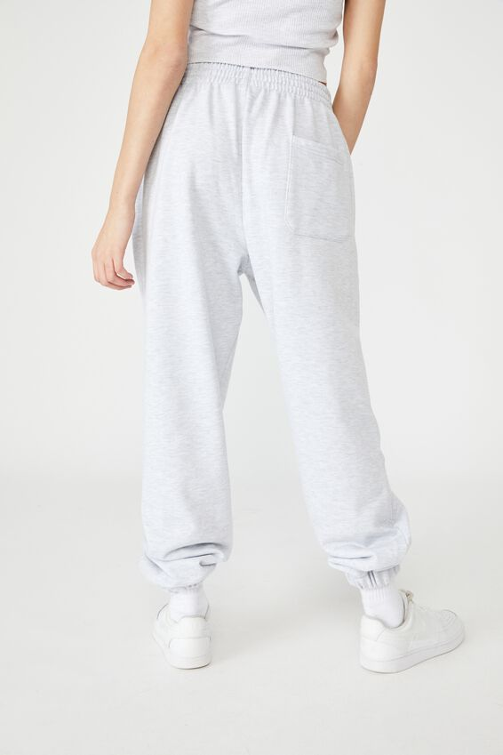 Slouchy Trackpant, SILVER MARLE
