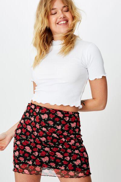 Mesh Skirt, BAYLEE ROSE_BLACK
