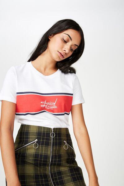 Basic Graphic T Shirt, WHITE_AUTHORISED