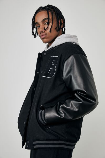 Varsity Jacket, BOSTON BLACK