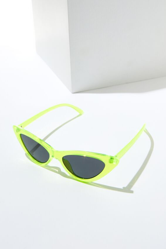 Zarah Cateye Sunnies, NEON YELLOW