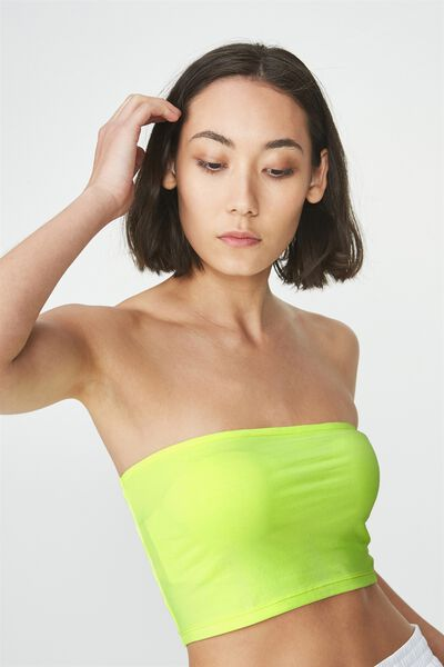 Basic Tube Bandeau, HAZARD YELLOW