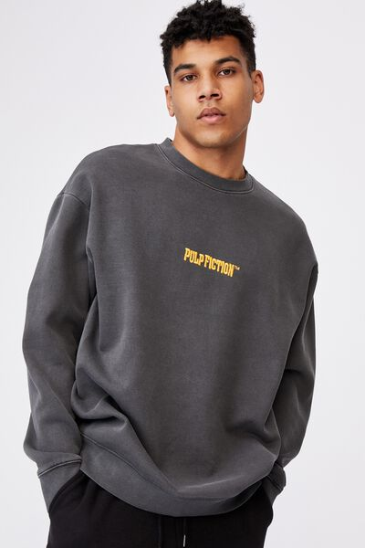 Elevated License Crew, LCN MIR WASHED BLACK/PULP FICTION
