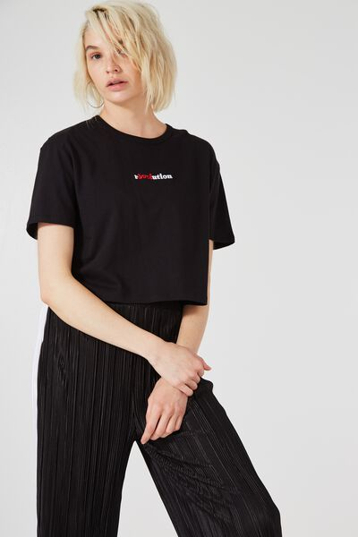 Graphic Boxy Tee, R-LOVE-UTION_BLACK