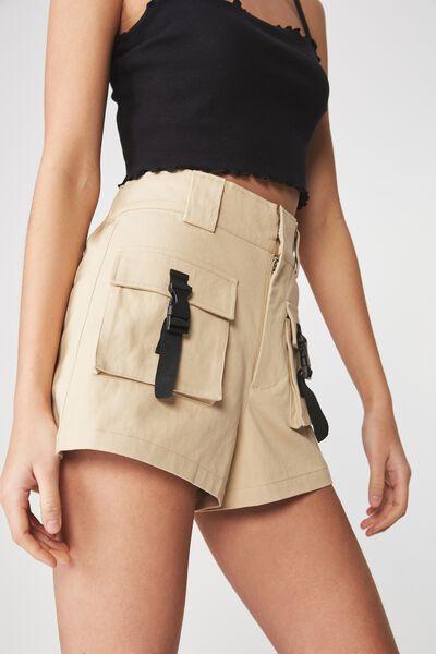 Multi Pocket Short, STONE