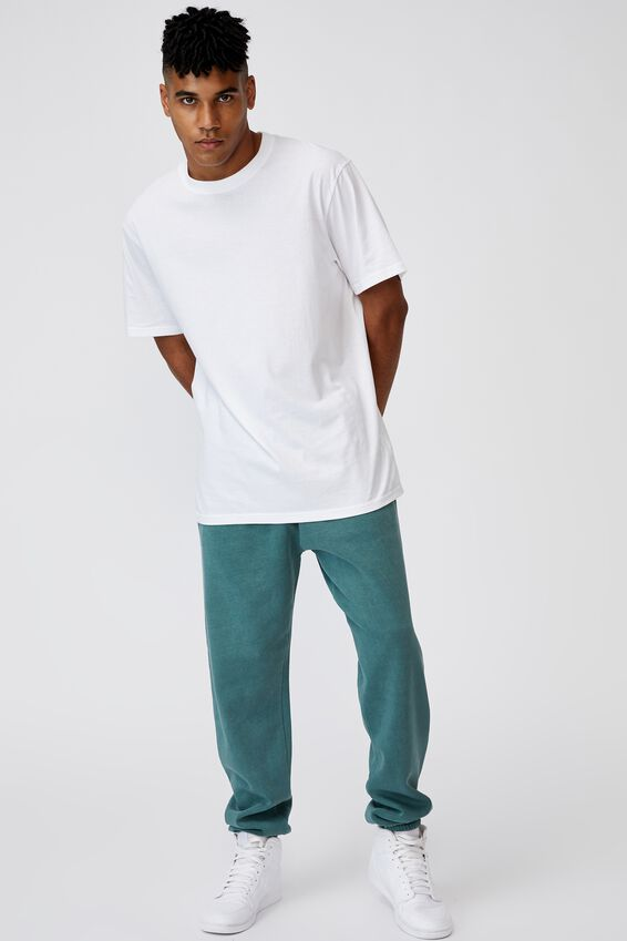 Relaxed Trackpant, WASHED PINE TEAL