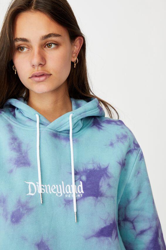 Disney License Hoodie, LCN DIS COOL MINT PURPLE TIE DYE/DISNEYLAND