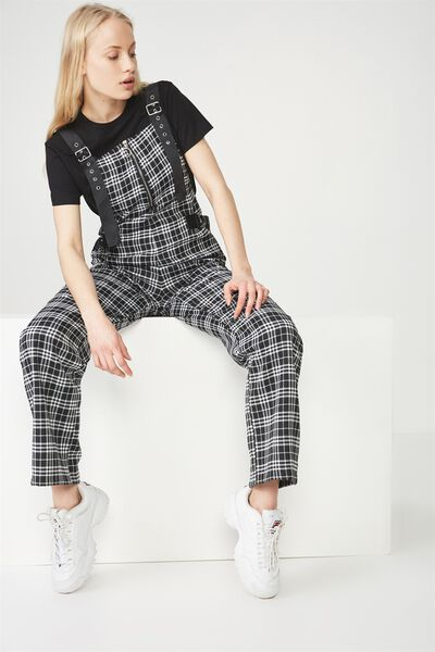 Urban Utility Overall, BLACK/WHITE CHECK