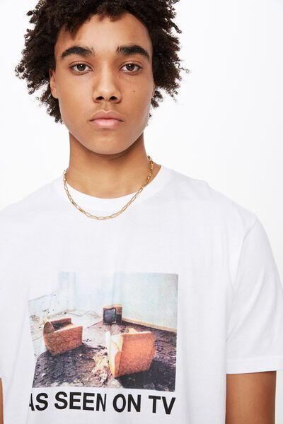 Graphic T Shirt, WHITE/ON TV