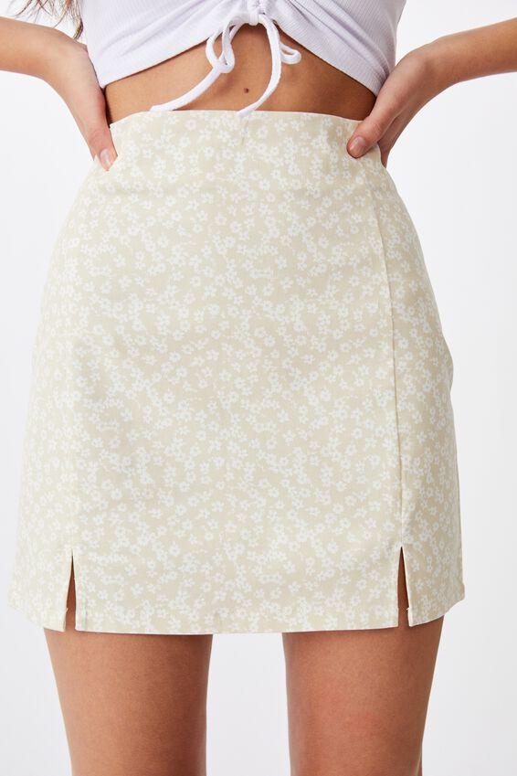 Double Split Mini Skirt, FOG KITA FLORAL
