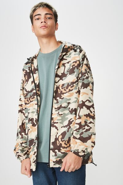 Hooded Spray Jacket, WARP CAMO