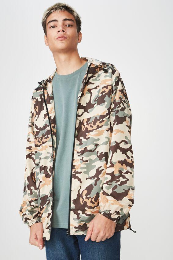 Hooded Spray Jacket, WARP CAMO