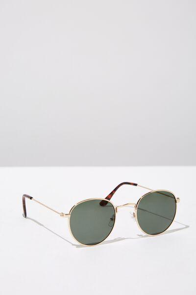 Splendour Round Sunglasses, GOLD_GRN