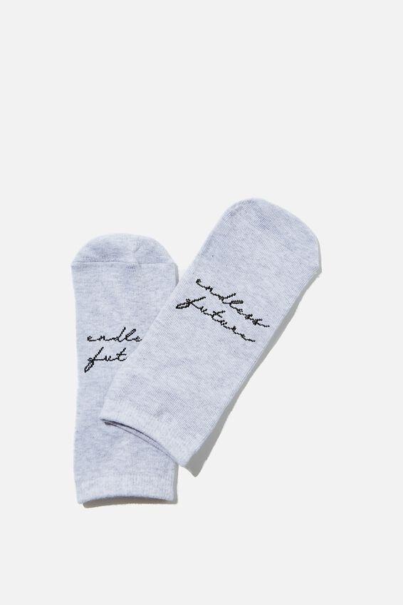 Anklet Original Sock, GREY MARLE/ENDLESS FUTURE