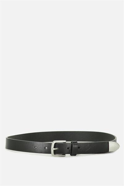 Pu Belt, BLACK/SILVER