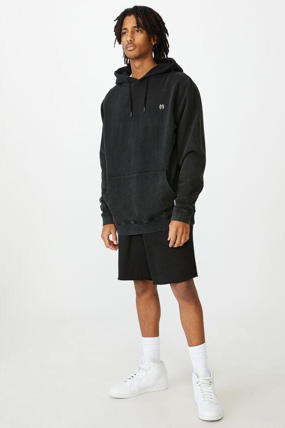 Oversized Icon Hoodie, WASHED BLACK