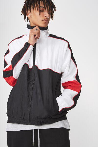 Shell Jacket, WHITE/BLACK/LYCHEE